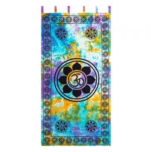 CURTAIN - Om Lotus Tie Dye 111cm x 222cm