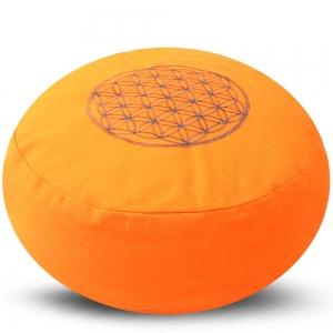 Flower of Life Meditation Cushion Orange