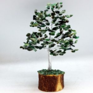20cm Wire Green Aventurine Tree