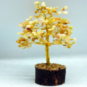 20cm Wire Golden Quartz Tree