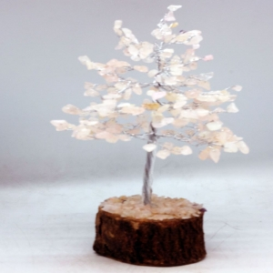 20cm Wire Rose Quartz Tree