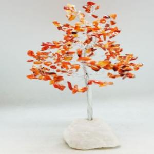 22cm Carnelian Tree with Crystal Base
