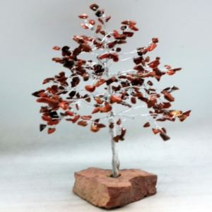 22cm Red Jasper Tree with Crystal Base
