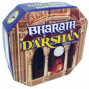 DARSHAN COIL - Bharath Darshan Incense (10 Coils)
