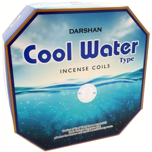 DARSHAN COIL - Cool Water Incense (10 Coils)