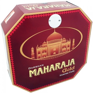 DARSHAN COIL - Maharaja Gold Incense (10 Coils)