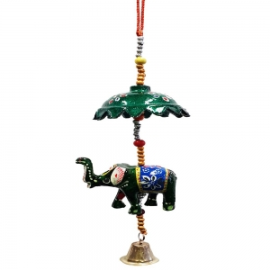 30cm Elephant with Umbrella Bell Chime