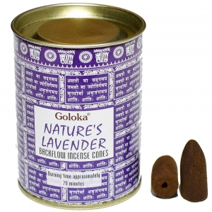 GOLOKA BACKFLOW - Natures Lavender Incense Cones