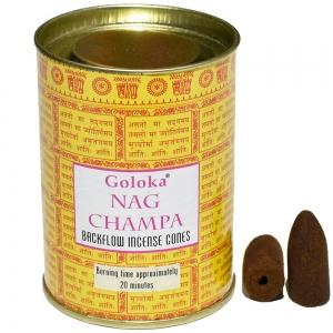 GOLOKA BACKFLOW - Nag Champa Incense Cones