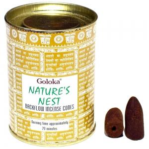 GOLOKA BACKFLOW - Natures Nest Incense Cones