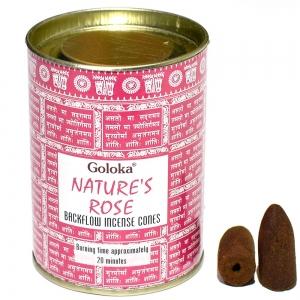 GOLOKA BACKFLOW - Natures Rose Incense Cones