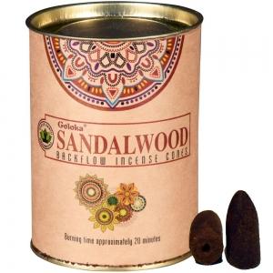 GOLOKA BACKFLOW - Sandalwood Incense Cones