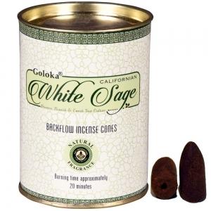 GOLOKA BACKFLOW - White Sage Incense Cones