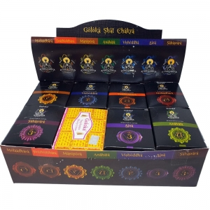 Goloka Chakra Incense Cone Display (24 Pack)