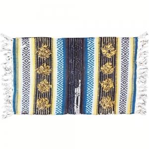 50cm x 80cm - Door Mat Cotton Blue / Yellow