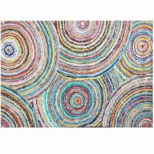 120cm x 180cm - Cotton Rug Multi Spiral