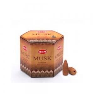 HEM BACKFLOW - Musk Incense Cones