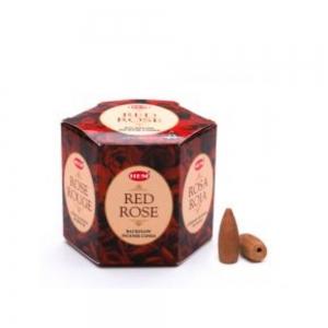HEM BACKFLOW - Red Rose Incense Cones
