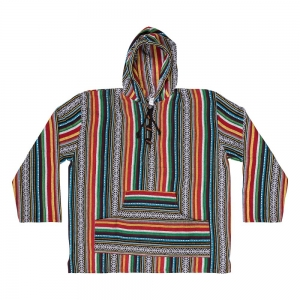 COTTON HOODIE - Red Green M