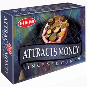 Hem Cone Incense -  Attracts Money