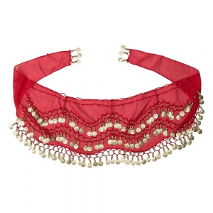 BELLY DANCE HIP SCARF - Red