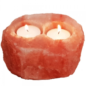 Himalayan Salt Tea Light 2 Holes 1kg (No Box)