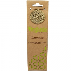 Organic Goodness Incense Cones Cannabis