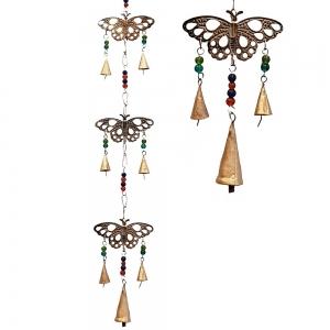 3 Butterfly Iron Cut Bells 80cm