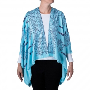 Dancing Shiva Kimono - Turquoise