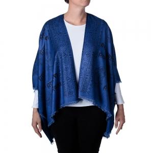 Ganesh Print Kimono - Blue