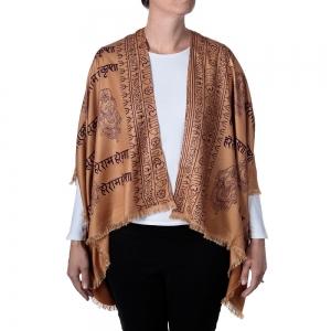 Ganesh Print Kimono - Brown