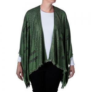 Ganesh Print Kimono - Green