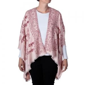 Ganesh Print Kimono - Light Pink