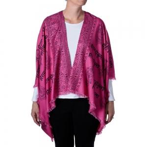 Ganesh Print Kimono - Pink