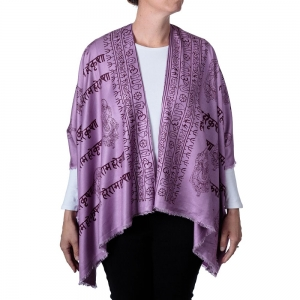 Ganesh Print Kimono - Purple