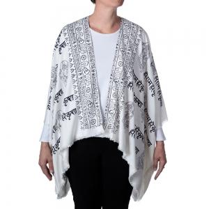 Ganesh Print Kimono - White