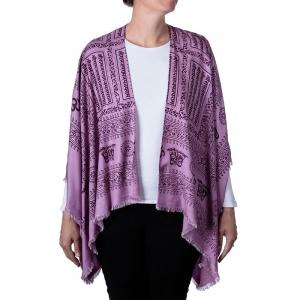 Om Print Kimono - Purple