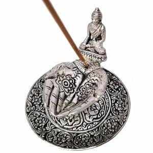 ALUMINIUM INCENSE BURNER - Buddha Hand 7cm