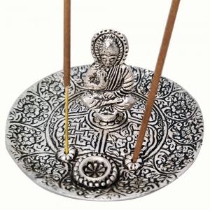 ALUMINIUM INCENSE BURNER - Buddha 11cm