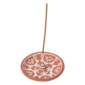 CLAY INCENSE HOLDER - Brown 13cm