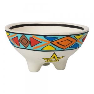 Clay Pentacle Smudge Bowl 13.5cm X 7cm