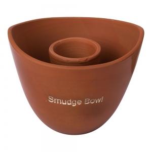 Clay Natural Smudge Bowl 10cm X 13cm