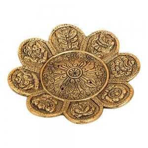8 Auspicious Symbols Incense Burner Gold 11cm