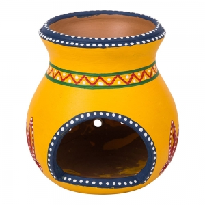 Clay Crafted Oil Burner Yellow 12cm