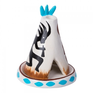 Clay Crafted Teepee Cone Burner 10cm