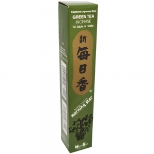 Morning Star - Green Tea 50 Bambooless Incense Sticks with Holder