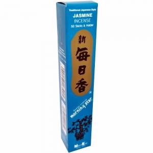 Morning Star - Jasmine 50 Bambooless Incense Sticks with Holder