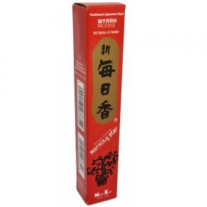 Morning Star - Myrrh 50 Bambooless Incense Sticks with Holder