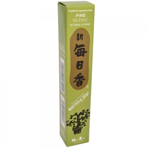 Morning Star - Pine 50 Bambooless Incense Sticks with Holder