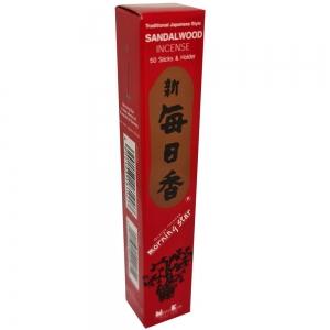Morning Star - Sandalwood 50 Bambooless Incense Sticks with Holder